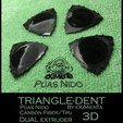 Download free 3D print files POLY-LACTIC ACID PLA TRIANGLE-DENT CARBON FIBER WITH TPU THERMOPLASTIC POLYURETHANE NON-SKID BAND, carleslluisar