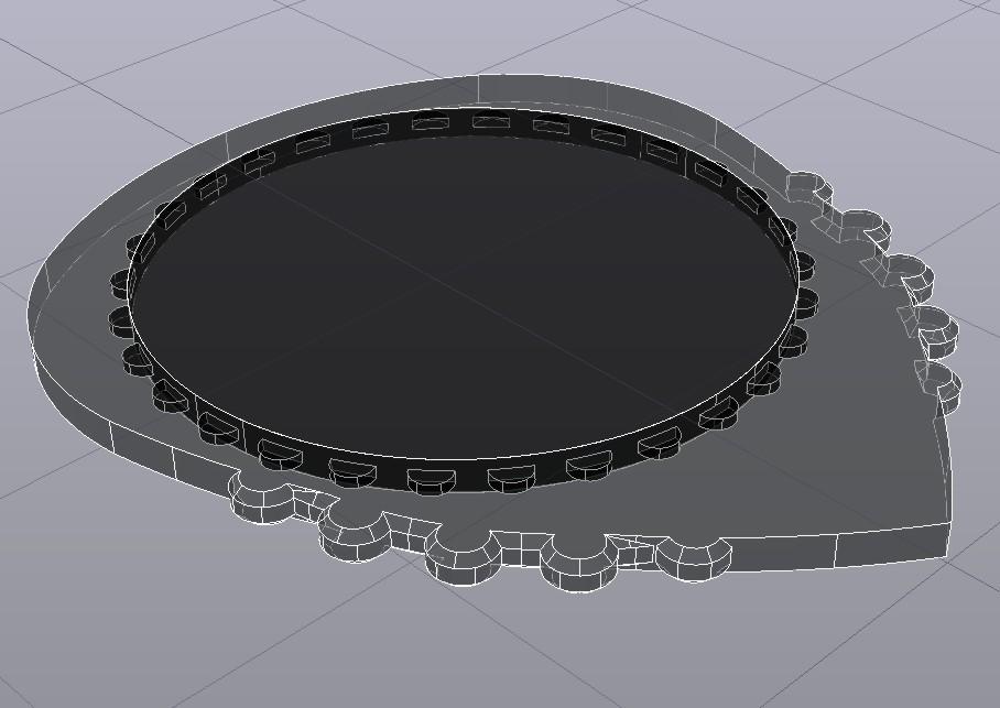 UNU-DENT R10'5 26X31 3D.jpg Télécharger fichier STL gratuit UNU-DENT R10'5 26X31 - pique nid pour PLA & TPU Guitare électrique blanche • Plan pour imprimante 3D, carleslluisar