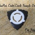 Download free STL file FlexiPick Center's Circle Triangle-Dent 3D Guitar Pua • Object to 3D print, carleslluisar