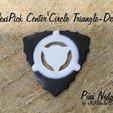 Télécharger fichier STL gratuit Guitare 3D Pua du centre FlexiPick Circle Triangle-Dent • Design à imprimer en 3D, carleslluisar