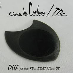 DUA R9'5 28x31 1'15mm.jpg Télécharger fichier STL gratuit DUA-Lise 1'15R10 28x31 pic à guitare • Plan à imprimer en 3D, carleslluisar