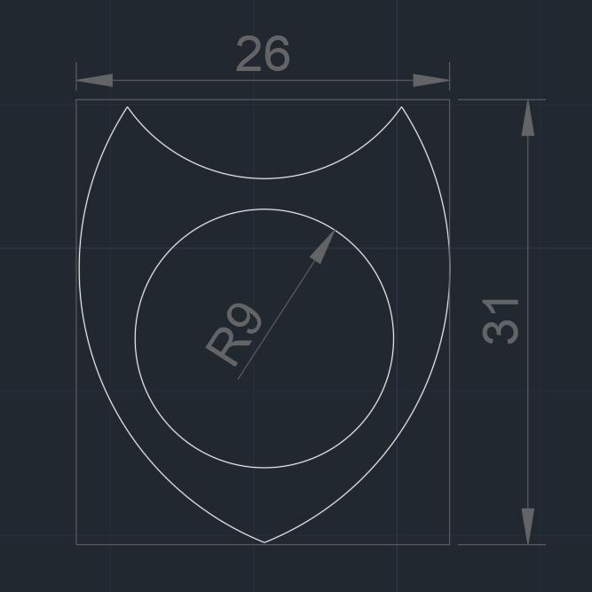 DUA Pua Nido 27919 medidas.jpg Télécharger fichier STL gratuit DUA 26X31mm guitare Pick By eXiMienTa PLA - double extrudeuse 3D TPU • Modèle imprimable en 3D, carleslluisar