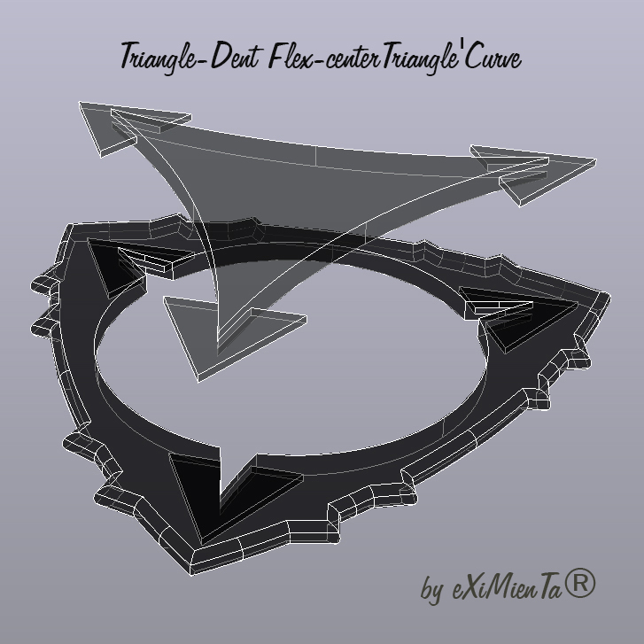 02 Triangle-Dent Flex-centerTriangle'Curve Rayos-X 19052020.jpg Download free STL file Triangle-Dent Flex-centerTriangle'Curve • 3D printing object, carleslluisar