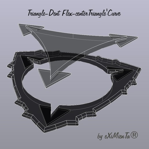 Download free STL file Triangle-Dent Flex-centerTriangle'Curve • 3D printing object, carleslluisar