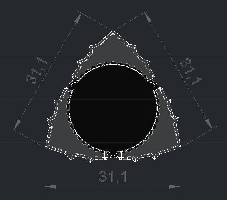 Flex Triangle-Dent Pua Nido 02052020 Medidas.jpg Download free STL file FlexiPick TRIANGLE-DENT flexible electric guitar nest 3D Carbon fiber and TPU • Design to 3D print, carleslluisar