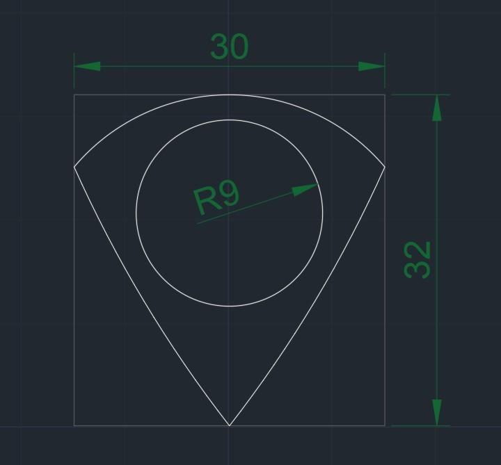 PICUDA R9 30x32 03042020 medidas.jpg Download free STL file UNU-TRI PICUDA MAX3D Pua Nido (Nest Pick Guitar) • 3D printable template, carleslluisar