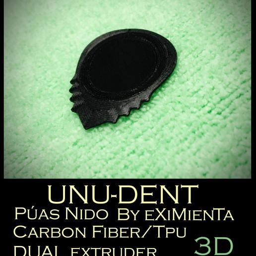 UNU-DENT pua nido by eXiMienTa Imagen.JPG Download free STL file UNU-DENT / UNU-TRI DENT by eXiMenTaTing Guitar Weave Dual Extruder Carbon Fiber • 3D printer object, carleslluisar