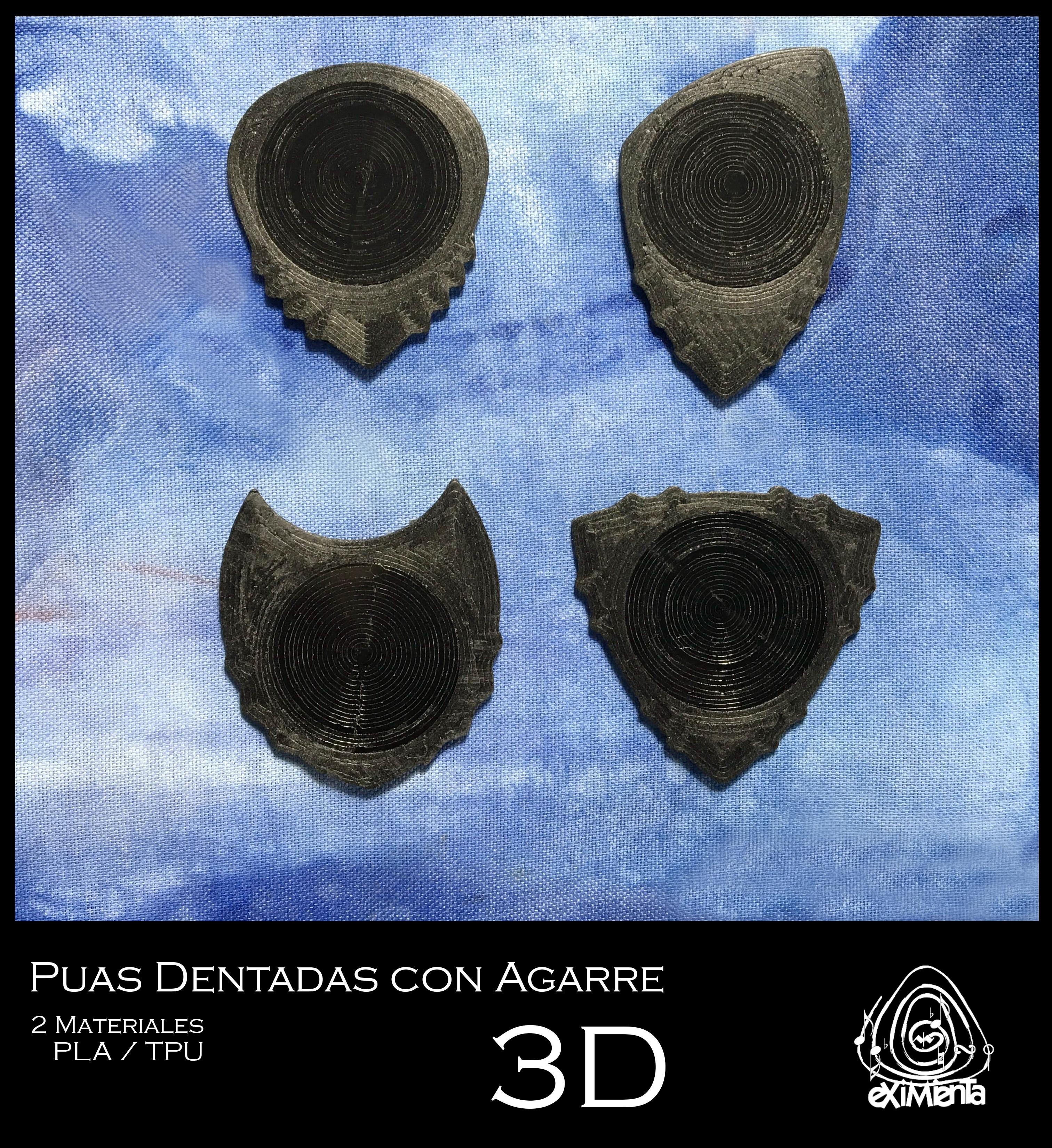 UNU PITA DUA TRIANGLE-DENT FC 22042020 foto.JPG Download free STL file UNU-DENT 3D Guitar Tine 2 Materials PLA / TPU Serrated Tines • Design to 3D print, carleslluisar