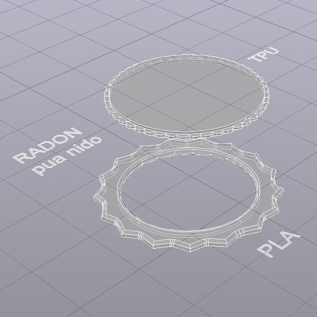 RADON pua nido 28X28 R10 R-x medidas.jpg Download free STL file RADON PICK Pua Nido de Guitarra Electrica / Nesk Pick • 3D printing model, carleslluisar