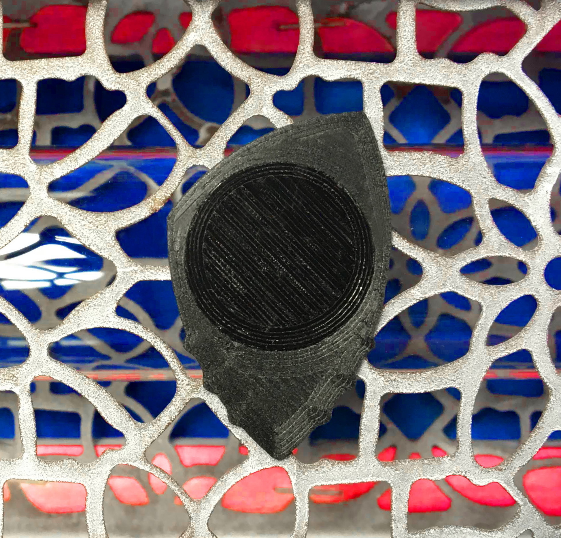 PitaDentFibra concentrico L245 R240grados.JPG Download free 3MF file Carbon Fiber PITA-DENT PLA Poly-Lactic Acid Guitar Spike with TPU Thermoplastic Polyurethane Non-Slip Grip Membrane • 3D printable model, carleslluisar