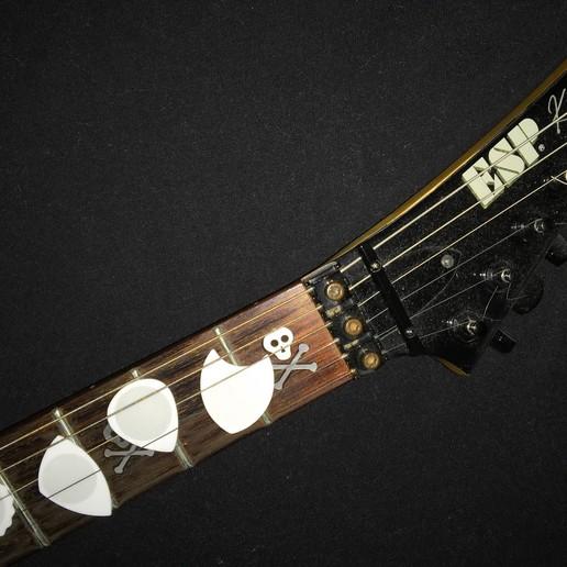PITA DUA RADON UNU guitar ESP Km.JPG Download free STL file DUA-DENT 01 - 02 3D Guitar Tips • Design to 3D print, carleslluisar