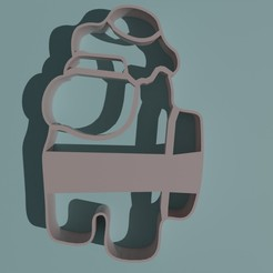 AmongUsHuevo1.jpg Download STL file AMONG US COOKIE CUTTER WITH EGG ON THE HEAD • 3D print template, Torrante
