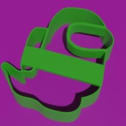 AmongUsFantasma1.jpg Download STL file AMONG US GHOST COOKIE CUTTER • 3D printable design, Torrante