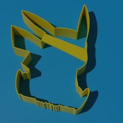 pikachu.jpg Download STL file PIKACHU COOKIE CUTTER • Template to 3D print, Torrante