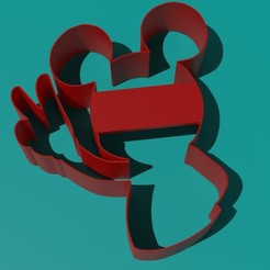 Mickey.jpg Download STL file MICKEY MOUSE COOKIE CUTTER • 3D printing template, Torrante