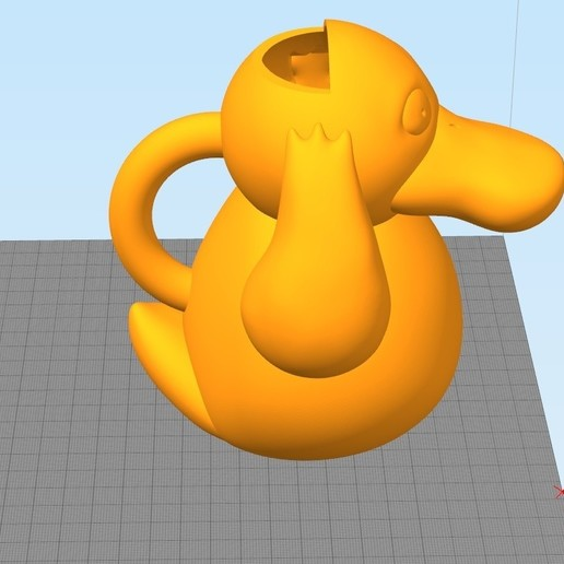 Download 3D printing templates Psyduck Watercan, siliciorock