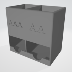 Download 3D printing designs AA & AAA Battery dispencer , Piratocola