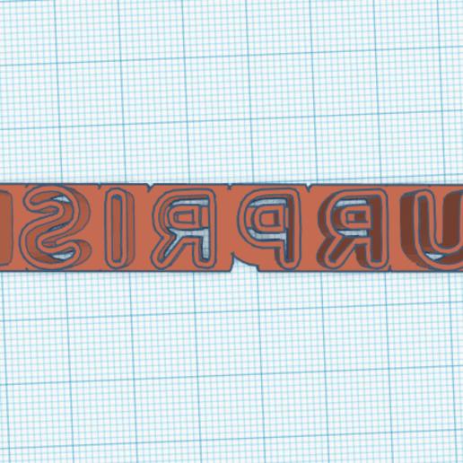 Surprise letras.png Télécharger fichier STL gratuit LoL Logo Surprise Cookie cutter complet et en pièces détachées • Plan pour imprimante 3D, NicoDLC