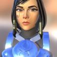 phara busto.png Télécharger fichier OBJ gratuit Montre buste Pharah Overwatch • Objet à imprimer en 3D, NicoDLC
