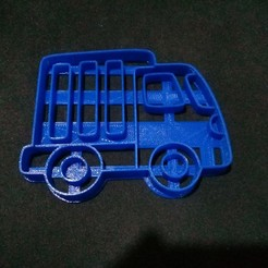Download free 3D printing files Truck Cookie Cutter, NicoDLC