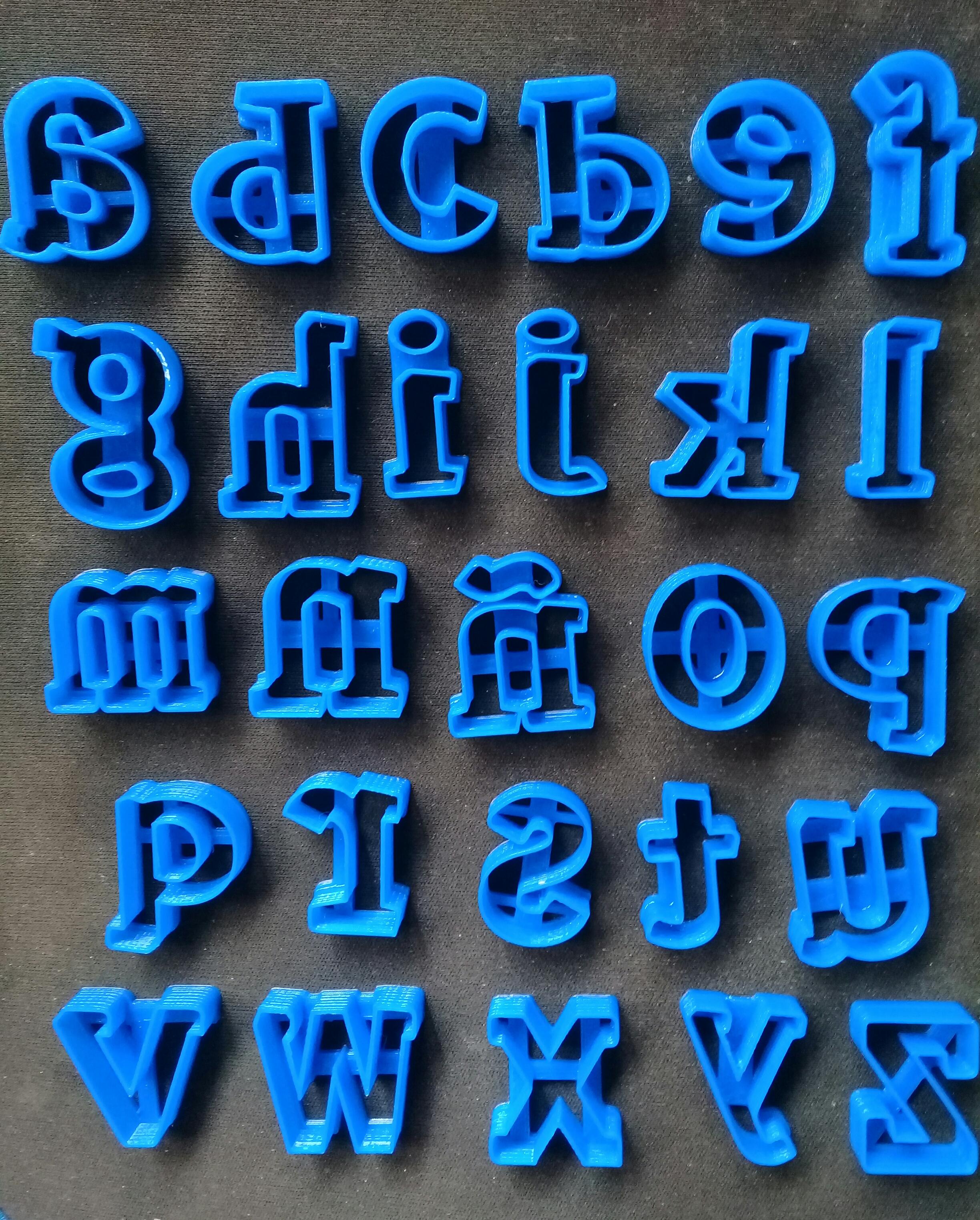 20190816_142155.jpg Télécharger fichier STL gratuit l'emporte-pièce alphabétique complet en minuscules • Modèle à imprimer en 3D, NicoDLC