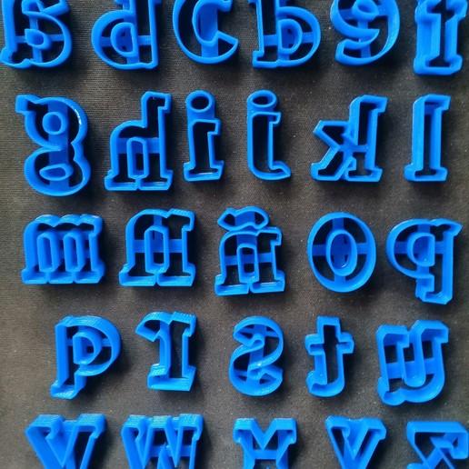 Télécharger fichier STL gratuit l'emporte-pièce alphabétique complet en minuscules • Modèle à imprimer en 3D, NicoDLC