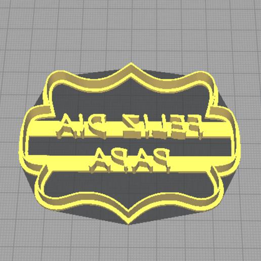 feliz dia papa otro otro otro.png Télécharger fichier STL gratuit Biscuits d'anniversaire (moule à biscuits) • Design pour impression 3D, NicoDLC