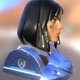 phara busto 3.png Télécharger fichier OBJ gratuit Montre buste Pharah Overwatch • Objet à imprimer en 3D, NicoDLC
