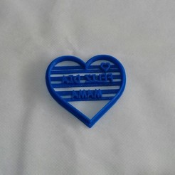 Download free 3D printing files Happy Mother's Day Heart Cookie Cutter, NicoDLC
