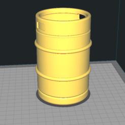 Pen holder beer1.png Download STL file Pen holder barrel • 3D print design, miskovj