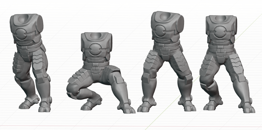 Tau_Fire_Warior.png Download STL file 2Pi Male legs and Torso bits • 3D printer model, Leesedrenfort