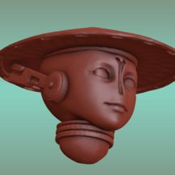 L.png Download STL file 2PI Female warrior Heads • Model to 3D print, Leesedrenfort