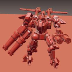 XV9A.png Download STL file XV-9 2xPie Hazardous battle suit • Template to 3D print, Leesedrenfort