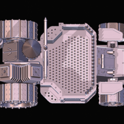 Battlewaggon Full4.png Download STL file Space Ork Battlewagon • 3D print model, Leesedrenfort