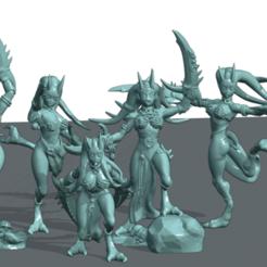 Daemon Set 2.png Download STL file Pleasure Demon set 2 • 3D print template, Leesedrenfort