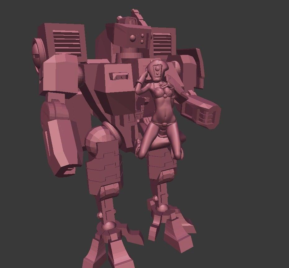 26295784d890980f949a387c21ed8ec5_display_large.jpg Download free OBJ file Bikini Pilot Battle Suit • Object to 3D print, Leesedrenfort