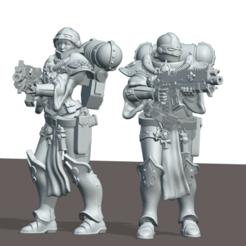 Descargar modelo 3D gratis Las hermanas del soldado de base, leesedrenfort
