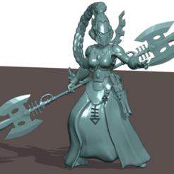 Warlock helmeted.png Télécharger fichier STL Femme Alien Seer Elf • Plan pour imprimante 3D, Leesedrenfort