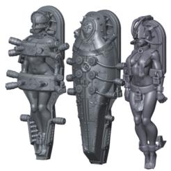 Penny Engine Pilots.png Download STL file Convent Mecha Pilots for your favorite nun-bots • Template to 3D print, Leesedrenfort