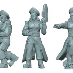 Commissar A.png Download STL file Commissar Builder Kit • 3D printable template, Leesedrenfort