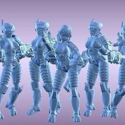 tau-breach-babes-3d-model-stl.jpg Download STL file 2Pi Breach Babes • 3D printing object, Leesedrenfort