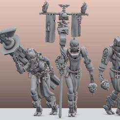 Download free 3D printer files ByteMe Servitors (Happy 500 followers), leesedrenfort