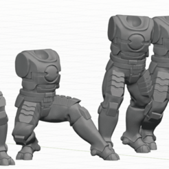 Tau_Fire_Warior_3.png Download STL file 2Pi Male legs and Torso bits • 3D printer model, Leesedrenfort
