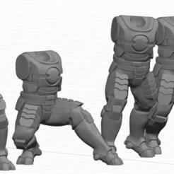 Tau_Fire_Warior_3.png Télécharger fichier STL 2Pi Jambes mâles et morceaux de torse • Design imprimable en 3D, Leesedrenfort