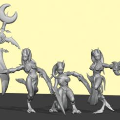 DAemonett1.png Download STL file Pleasure Demon set 1 • Design to 3D print, Leesedrenfort