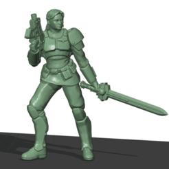 Guard Girl.png Télécharger fichier STL Lieutenant de la garde • Modèle imprimable en 3D, Leesedrenfort