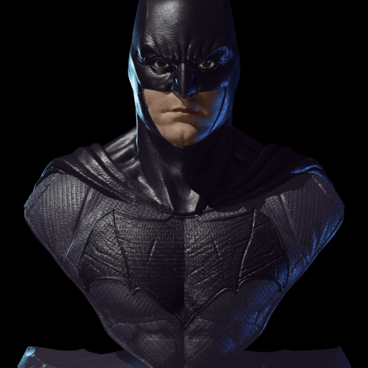 Face-B.png Download free STL file Batman Justice League • 3D printer model, IdeaMutante