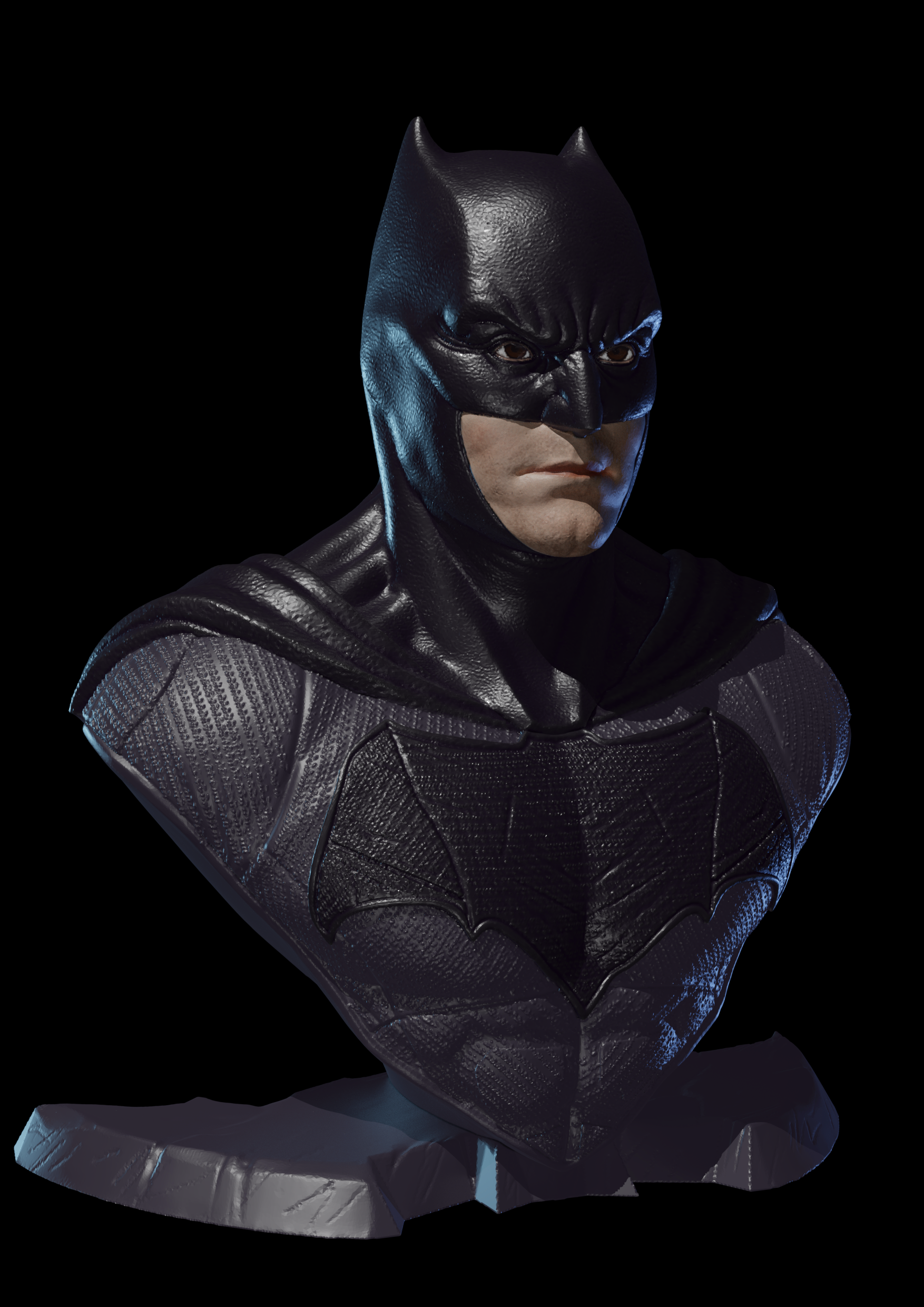 Face-A.png Download free STL file Batman Justice League • 3D printer model, IdeaMutante