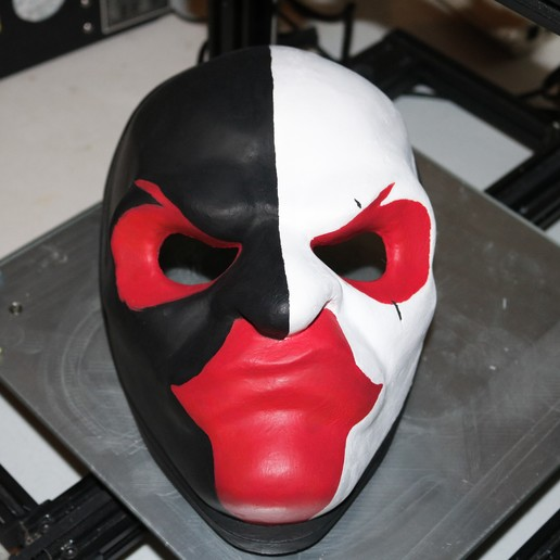 IMG_0521.JPG Download free STL file Payday 2 Scarface's Mask • Model to 3D print, valertale