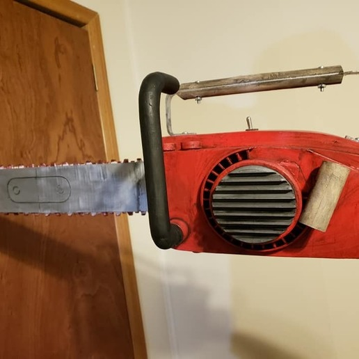 75492407_2411800939073841_4459517809621204992_n.jpg Download free STL file Ash Williams Chainsaw Hand (Evil Dead II & Army Of Darkness) • Object to 3D print, valertale